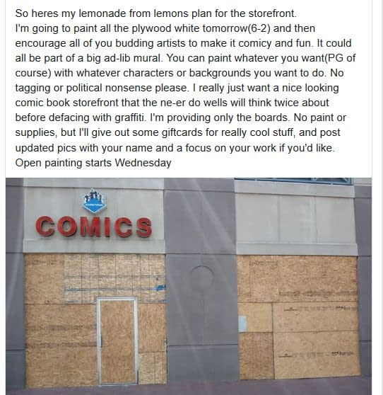 5 More Comic Book Stores Damaged Or Looted Last Night.