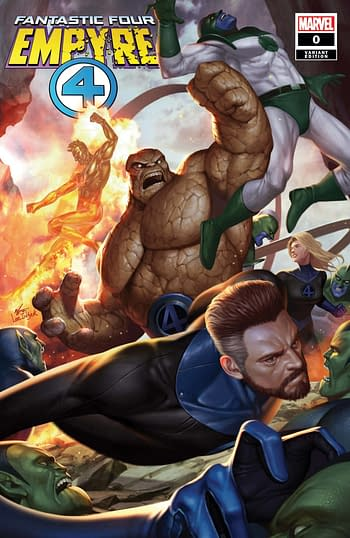 Empyre #0: Fantastic Four Inhyuk Lee Variant Cover