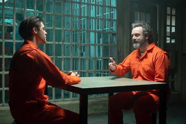 Tom Payne et Michael Sheen dans l'épisode final de la saison de Prodigal Son, gracieuseté de FOX.