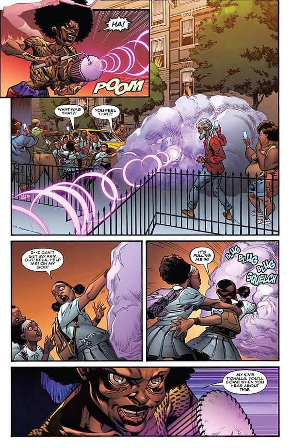Amazing Spider-Man: Wakanda Forever #1 art by Alberto Albuquerque and Erick Arciniega