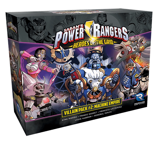 Pack méchant # 2 pour Power Rangers: Heroes of the Grid.