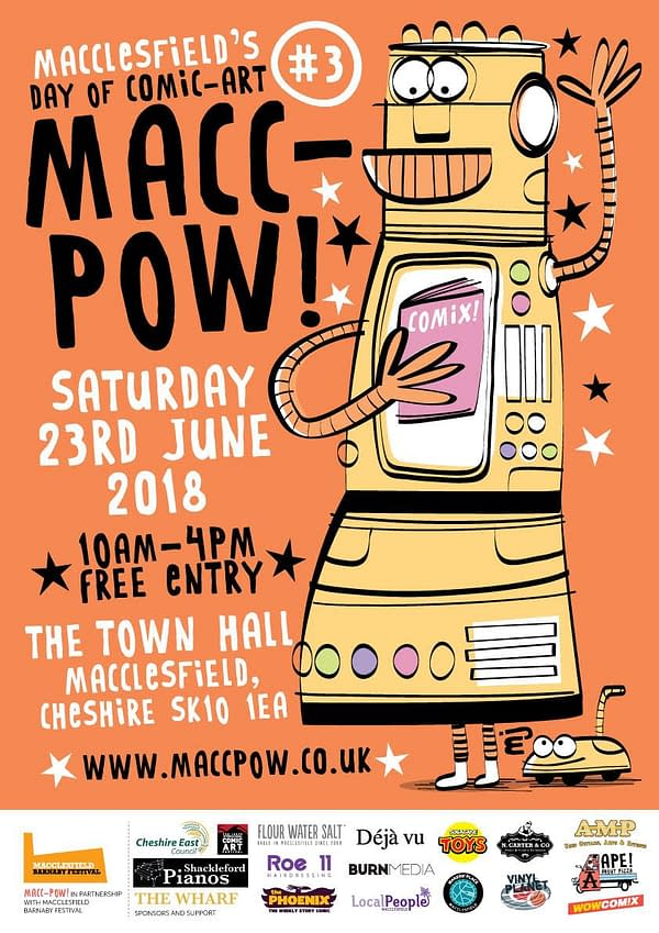 MACC-POW, the Cheshire Comic Con is Smiling in June