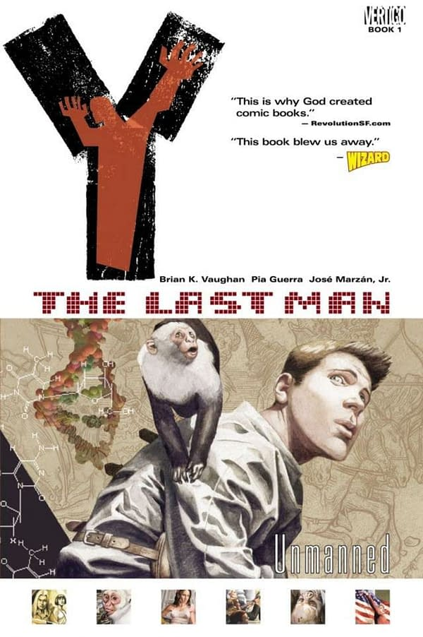 Y: The Last Man Book 1 cover. Credit: Vertigo.