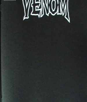 Venom #25 Black Blank Cover