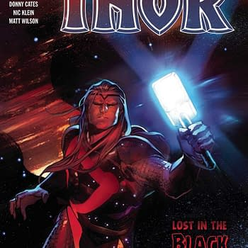 The cover of Thor #5 published by Marvel Comics with the creative team of Donny Cates, Nic Klein, Matt Wilson, and Joe Sabino.