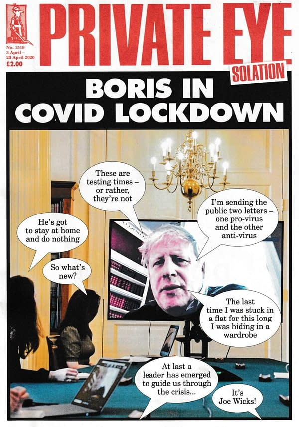 Cover to Private Eye magazine