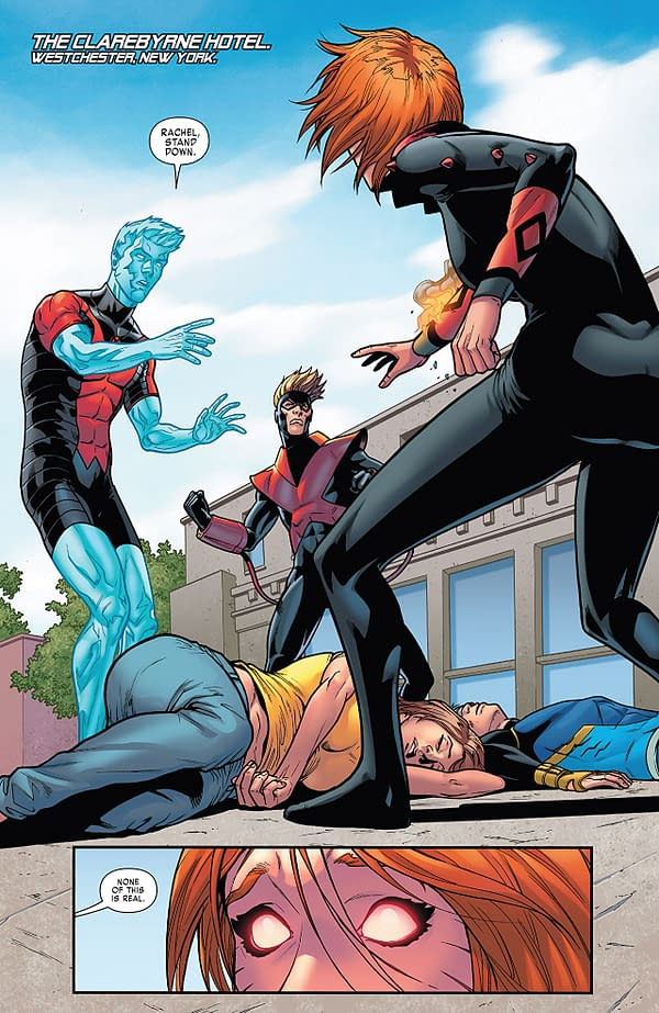 X-Men: Gold #32 art by Pere Perez and Jay David Ramos