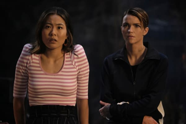 Nicole Kang as Mary Hamilton and Ruby Rose as Kate Kane in Batwoman, courtesy of The CW.