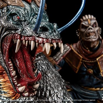 Iron Maidens Eddie Rides the Chinese Dragon with XM Studios