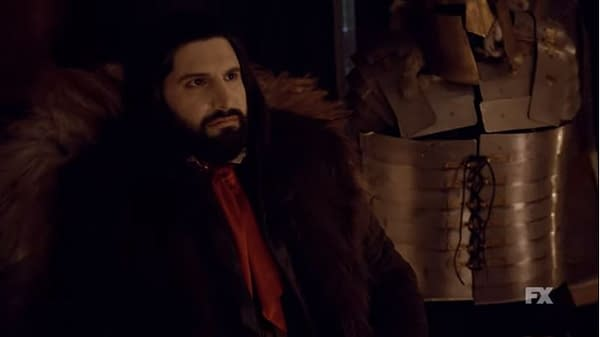 Nandor is confronted by Guillermo in What We Do in the Shadows, courtesy of FX Networks.