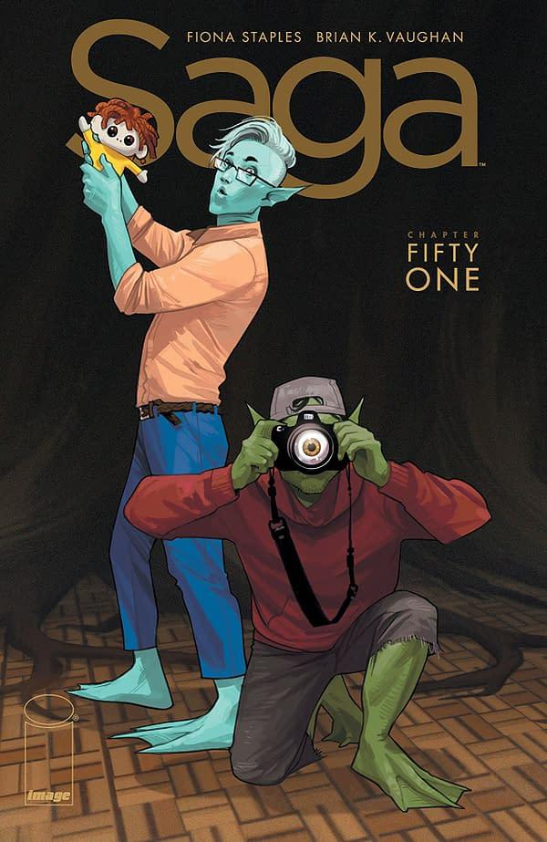 Saga #51 cover by Fiona Staples