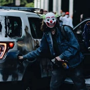 Man in Joker Mask Charged by DOJ with Destruction of Police Vehicle