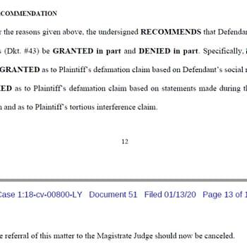 Court Gives Final Judgement in Jurisdiction Matter in Richard Meyer Vs Mark Waid