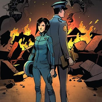 Mech Cadet Yu #10 cover by Takeshi Miyazawa and Raul Angulo