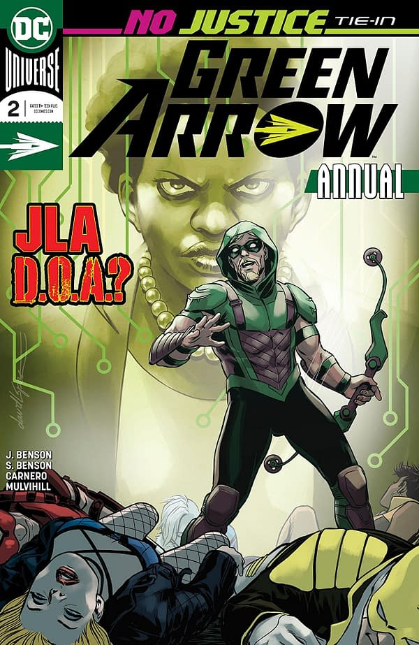Green Arrow Annual #2 cover by David Lopez