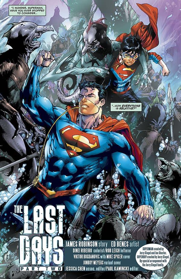 Superman #41 art by Ed Benes and Dinei Ribeiro