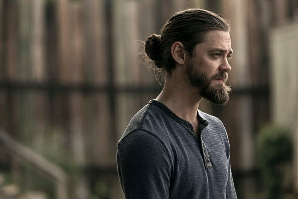 "Tom Payne as Paul ""Jesus"" Rovia on The Walking Dead, courtesy of AMC."