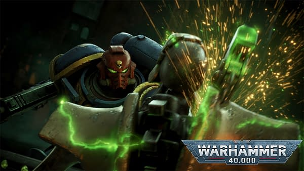 Warhammer 40,000's ninth edition even has its own variation on the classic logo!