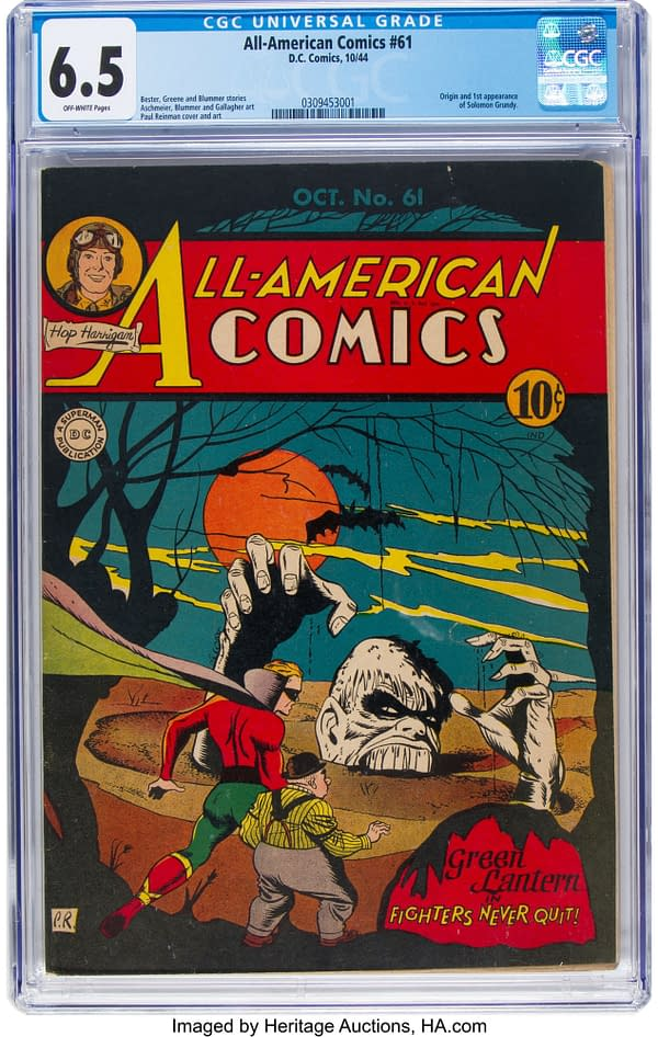 All-American Comics #61 featuring Solomon Grundy.
