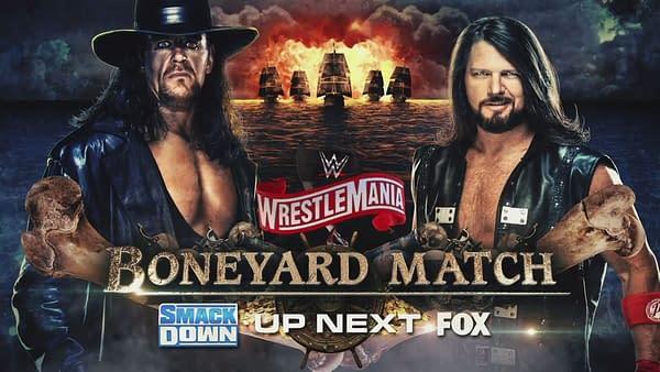 Undertaker and AJ Styles' Boneyard Match gets a rerun on SmackDown (Image: WWE)