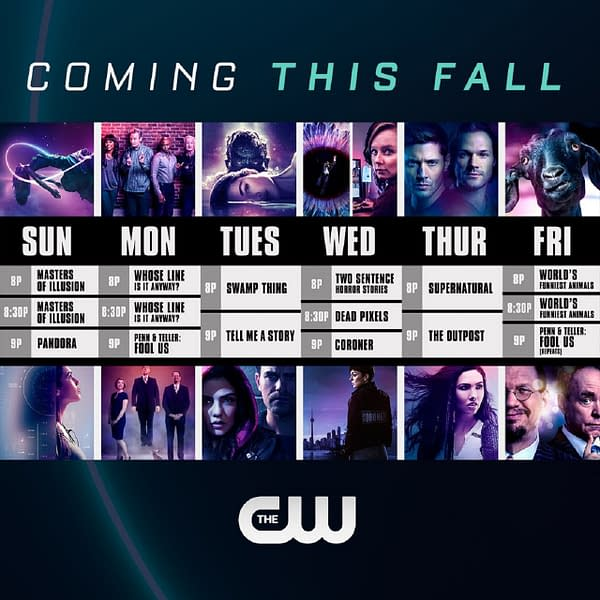 Here's a look at The CW's Fall 2020 schedule.