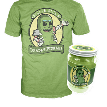 Funko Pop Tee Pickle Rick