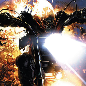 Johnny Blaze: Ghost Rider: #1 cover by Clayton Crain