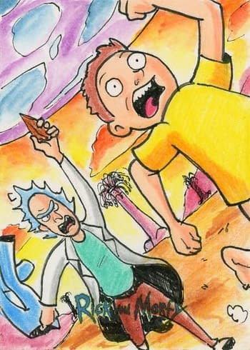 Rick and Morty Season 1 Trading Cards Sketch 1