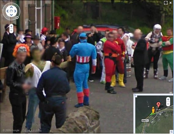 Google Street View Discovers Secret Wars In A Pub