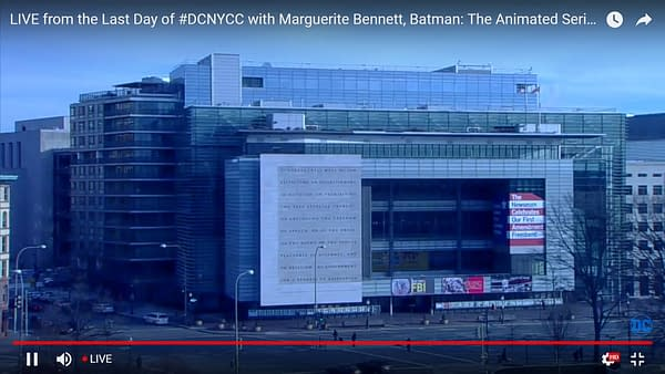 DC Comics Starts Live-Streaming From Washington DC a Little Early