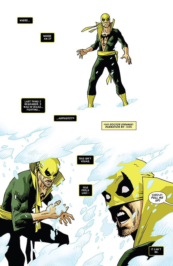 Iron Fist #78 art by Damian Couceiro and Andy Troy
