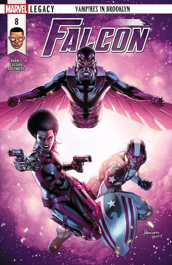 Falcon #8 cover by Jay Anacleto