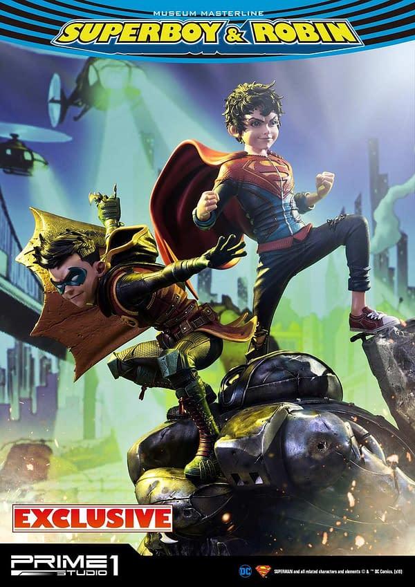 DC Comics Super Sons Statue Teased By Prime 1 Studio