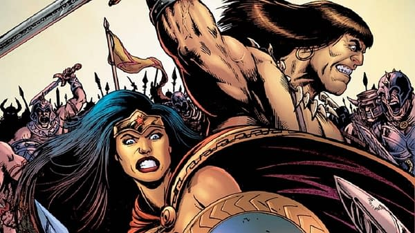 Cover to Wonder Woman and Conan #1 by Darick Robertson