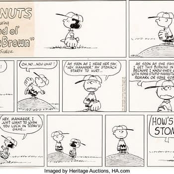 Peanuts Sunday Baseball Strip By Shultz Up For Auction At Heritage