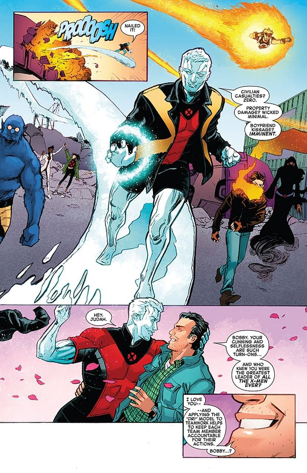 Iceman #11 art by Robert Gill and Rachelle Rosenberg