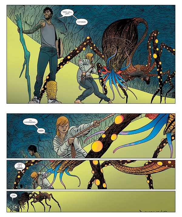 Barrier #5 art by Marcos Martin and Muntsa Vicente