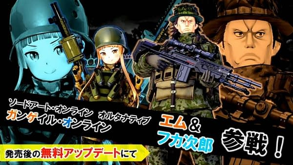 Sword Art Online: Fatal Bullet Adds Fukaziroh and M as Free Playable Characters This Month