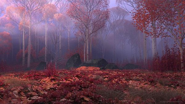 La forêt interdite de Frozen 2.