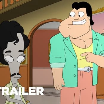 Stan and Roger suddenly become best friends in American Dad, courtesy of TBS.