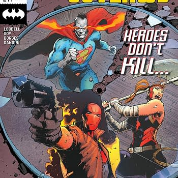 Red Hood and the Outlaws #24 cover by Trevor Hairsine and Antonio Fabela