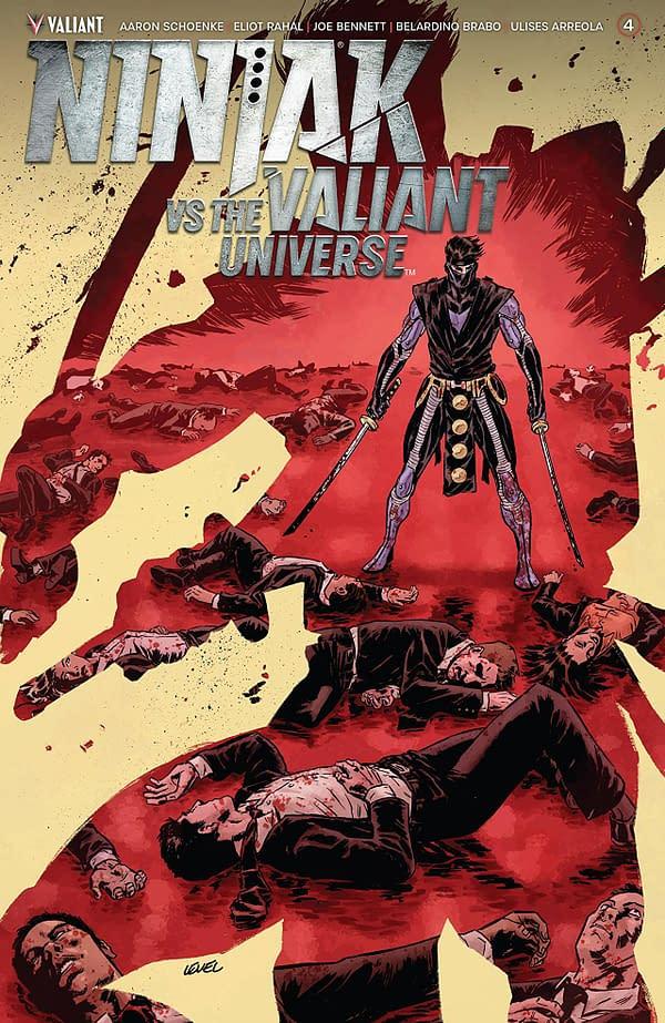 Ninjak vs the Valiant Universe #4 cover Brian Level
