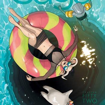 Saga #52 cover by Fiona Staples