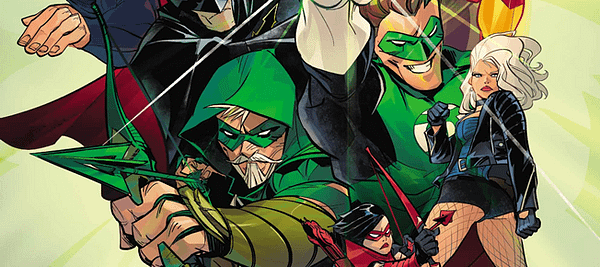 Green Arrow #31 cover by Otto Schmidt