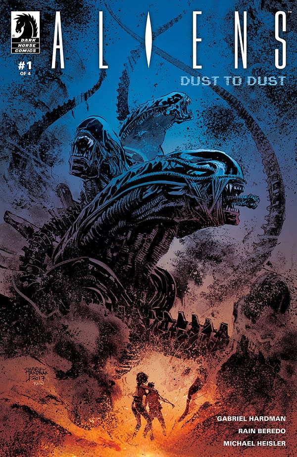Aliens: Dust to Dust #1 cover by Gabriel Hardman