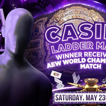 It's Your Casino Ladder Match for AEW Championship Title Shot, courtesy of AEW.