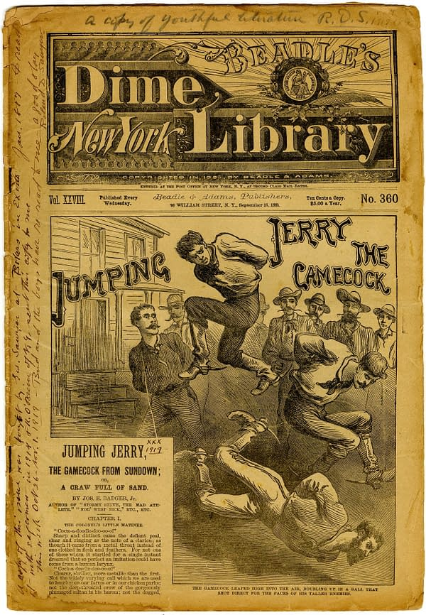 New York Dime Library #360 (September 16, 1885, Beadle & Adams, Publishers).