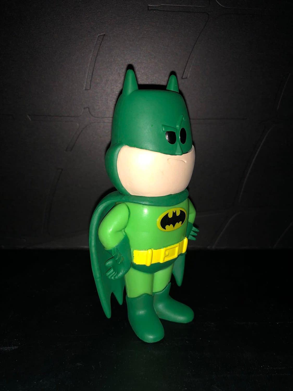 Funko Soda Vinyl Figure Emerald City Comic Con Exclusive Green Batman Figure, side view of figure.