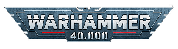 Games Workshop's newest logo for the ninth edition of Warhammer 40,000.
