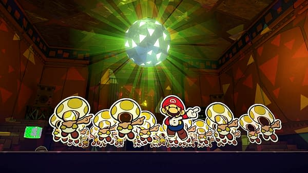 Get your disco on with Paper Mario: The Origami King, courtesy of Nintendo.